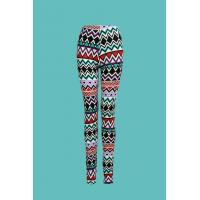Quality Woman's Spandex Allover Printed Knit Leggings for sale