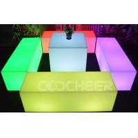Wholesale Rectangle Illuminate Chair Plastic 16 Colors + 4 Rgb Flash Modes from china suppliers