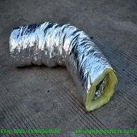 Wholesale 16kg/m3 Fiber glass wool blanket insulation for flexible duct pipes from china suppliers