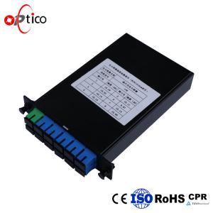 Lan 1x8 PLC Fiber Optic Splitter Standard LGX Cassette Low Insertion Loss