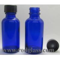 Wholesale 30ml Cobalt Blue Boston round glass bottle from china suppliers
