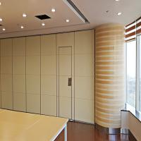 Wholesale Interior Office Partition Walls , Folding Room Dividers with Sliding Aluminium Track Roller from china suppliers