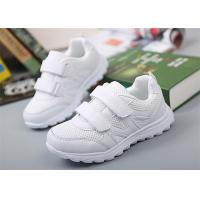 Wholesale Breathable Little Girl Gym Shoes , Kids White Sneakers With Two Magic Straps from china suppliers