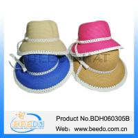 China Cheap wholesale straw hats paper ladies straw hats on sale