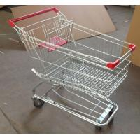 Wholesale Grocery Shopping Trolley Wire Basket Cart Zinc Coated Elevator Wheels With Seat from china suppliers