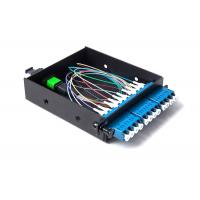 Wholesale Black MPO Patch Cord Metal 12 Fiber Optical Box 165 * 139 * 33mm from china suppliers