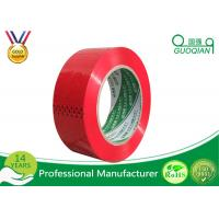 Wholesale Red Cargo Wrapping BOPP Adhesive Tape Biaxially Oriented Polypropylene Packaging Tape from china suppliers