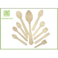 Buy cheap Healthy Disposable Wooden Cutlery Dinner Ice Cream Spoons In Different Shapes from wholesalers