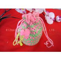 Wholesale Pink And Green Crochet Handbags Portable Crochet Mobile Pouch Interweave Rope from china suppliers
