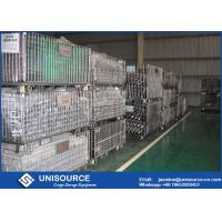 Wholesale Stackable Steel Galvanized Metal Wire Mesh , Steel Pallet Cages For Warehouse Storage from china suppliers