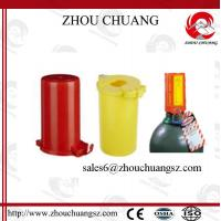 Wholesale 80mm Colorful PP Material  Gas Cylinder Lockout with pneumatic lock from china suppliers