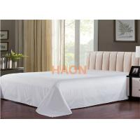Wholesale Plain / Jacquard Hotel Bed Sheets For Single / Double / Queen / King Size Bed from china suppliers