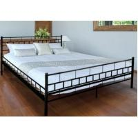 Wholesale Sample Plain Metal And Wood Bed , Customized Metal King Size Bed With Pine Wood Slats from china suppliers
