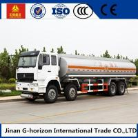 Wholesale HOWO 8X4 Oil Tank Truck Trailer / Fuel Tank Truck Single - Plate Dry Clutch from china suppliers