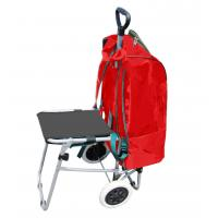 Wholesale Multipurpose Shopping Backpack Lightweight Wheeled Shopping Trolley bag Dolly with Seat Stair Climbing Shopping Bag from china suppliers