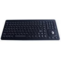 Wholesale 24 Function Keys Black Panel Mount Ruggedized Keyboard With 25mm Optical Trackball from china suppliers