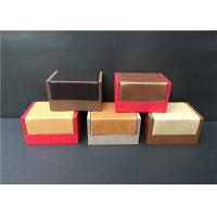 Wholesale Luxury Mens Cufflink Gift Boxes , Professional Wooden Cufflink Storage Box from china suppliers