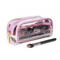 Transparent PVC Cosmetic Bag Lovely Makeup Pouch Organizer With Multi Pockets for sale