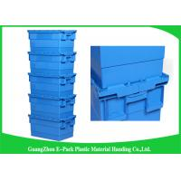 Wholesale 600 * 400 * 315mm Plastic Attached Lid Containers Stackable And Nestable PP Materials from china suppliers