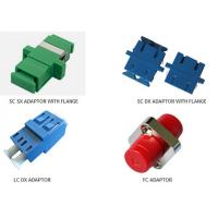 SC / APC Fiber Optic Adaptors FTTH Network Connectors With Dust Cap Adaptors