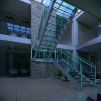 Wholesale LED Light U Shape Glass Staircase from china suppliers