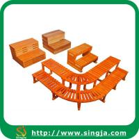 Wholesale Custom wooden step for outdoor spa from china suppliers