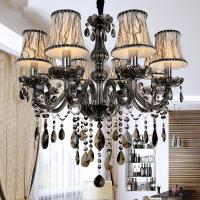 Wholesale Nueva Modern crystal led lámparas para cocina sala sala dormitorio de Color gris cristal K9 lustres de teto chandelier from china suppliers