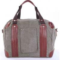 Wholesale new fashion man's canvas casual bag with leather handle from china suppliers