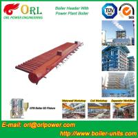 Quality Low Pressure Steel Electric CFB Boiler Header Boiler Steam Header Water Tube Structure for sale