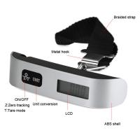 Wholesale Portable Mini LCD Luggage Electronic Scale Thermometer 50kg Capacity Hanging Digital Weigh from china suppliers