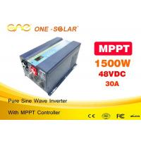Wholesale 1500W Solar Pv Power Inverter With 30A MPPT Controller Pure Sine Wave Dc 12v 24v 48vdc To Ac 220vac from china suppliers