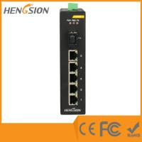 Quality 5 Megabit TX Port / 1 Gigabit SFP FX 5 Port Industrial Ethernet Network Switch / 5 Port Poe Switch for sale