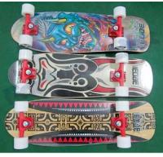 Single Kick Flat Canadian Maple Skateboard with 3.25 Aluminum and PU Cushion
