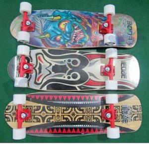 "Quality Single Kick Flat Canadian Maple Skateboard with 3.25"" Aluminum and PU Cushion for sale"
