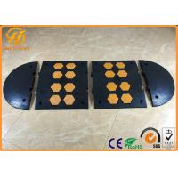 Wholesale Heavy Duty Traffic Car Parking Stopper Rubber Yellow and Black 500 * 600 * 50 mm from china suppliers