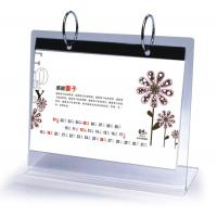 Wholesale Office Clear Acrylic Calendar Holder on Table Top Custom 148mm x 210mm from china suppliers