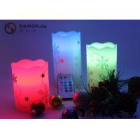 Quality Hand Craft Drawing Small Electric Candles With Moving Wick 12 Colors for sale