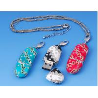 Wholesale Custom Engraved Metal & Crystal Pendant Jewelry Usb Flash Drive 1G, 2G for Gift from china suppliers