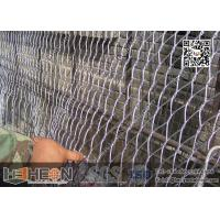 Quality 316L Stainless Steel Cross Knotted Wire Rope Mesh Netting   China Factory Direct Sales for sale