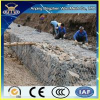Wholesale PVC coated and hot-dipped galvanized gabion basket for dea defence long lasting from china suppliers