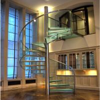 Wholesale Modern 2018 Business Home use Glass stainless steel railing Spiral Staircase from china suppliers