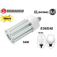 Wholesale 54W 8100Lm 6000K Waterproof E40 LED Corn Light For Enclosed Fixture , AC100-300V from china suppliers