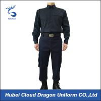 Quality Long Sleeve Security Guard Uniform Adjustable Cuff , Law Enforcement Uniforms For Duty for sale