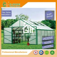 Wholesale 406x406x273cm Green Color 10MM Polycarbonate + Box Profile Hobby Flowerhouse from china suppliers