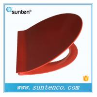 European Standard Soft Close Elongated V Red Toilet Seat Covers