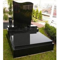 Quality China absolute black shanxi black granite monument on sale for sale