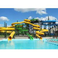 Wholesale Fiberglass Spiral Tube Water Slide With Closed Slide / Open Slide from china suppliers