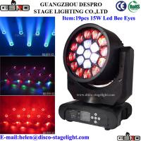 Wholesale Nightclub 19pcs 12W LED Moving Head Wash Bee Eye RGBW Stage Beam Light from china suppliers