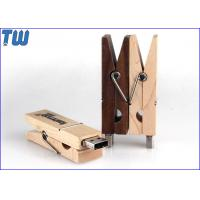 Wholesale Multi-Function Wood Clip Cool 4GB USB Memory Stick Thumb Drives from china suppliers