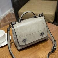 Wholesale Grey Over The Shoulder Bags , Genuine Leather Small Messenger Bags For Women from china suppliers